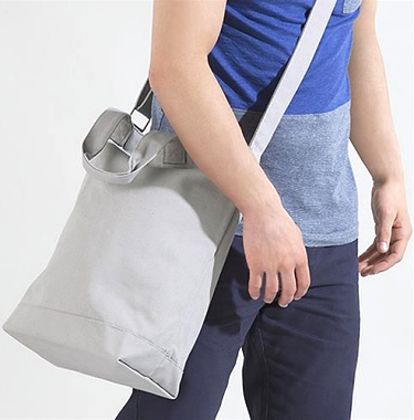 Canvas Day Bag Axelrem i kategori Eget namn/text: Canvas Day Bag Natur