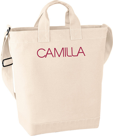 Canvas Day Bag Natur i kategori Eget namn/text: Canvas Day Bag Natur