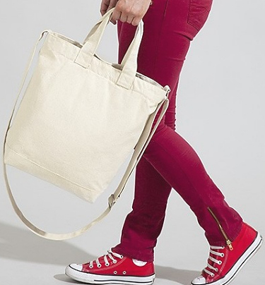 Canvas Day Bag Handtag i kategori Eget namn/text: Canvas Day Bag Natur
