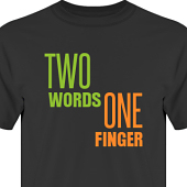 T-shirt, Hoodie i kategori Attityd: Two Words One Finger