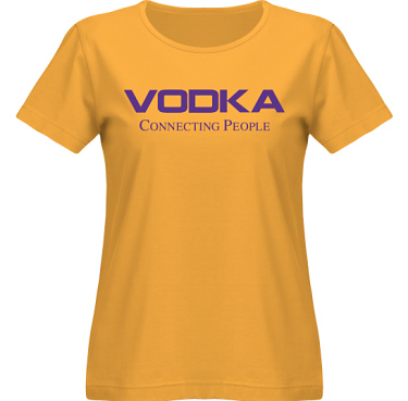 T-shirt SouthWest Dam Gul/Violett tryck i kategori Alkohol: Connecting People