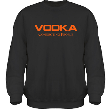 Sweatshirt HeavyBlend Svart/Orange tryck i kategori Alkohol: Connecting People