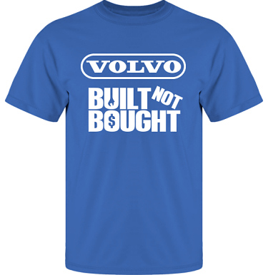 T-shirt UltraCotton Royalblå/Vitt tryck  i kategori Motor: Volvo Built Not Bought