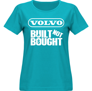 T-shirt SouthWest Dam Aquablå/Vitt tryck i kategori Motor: Volvo Built Not Bought